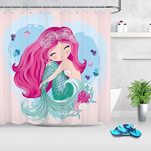 Buy mermaid shower curtain kids