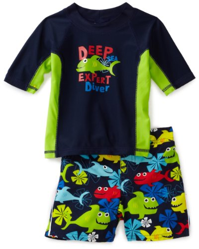 Osh Kosh Baby Boys' Deep Diver Rash Guard Set