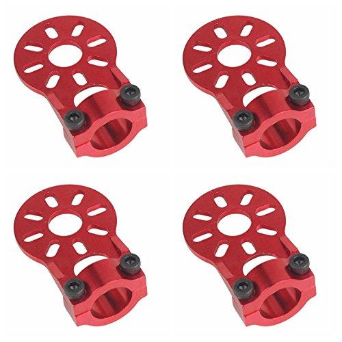 Shaluoman 4Pcs Red Aluminium Alloy Motor Mount Holder for 12mm Glass/Carbon Fiber Tube