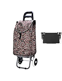 LBY Shopping Cart, Shopping Cart, Small Cart, Portable Cart, Collapsible Trolley, Luggage Trolley Shopping Trolley