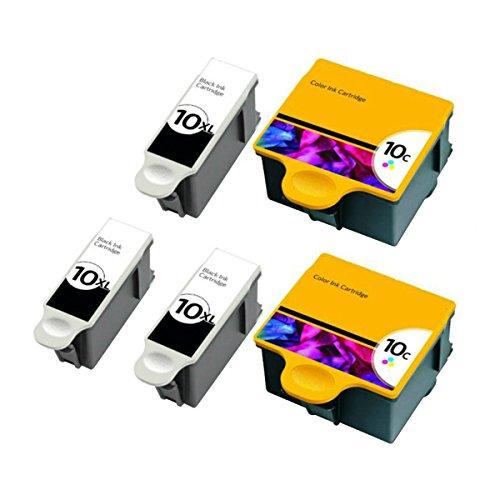 QINK for Kodak 10XL Black Kodak 10 Color Ink Cartridge 5-...