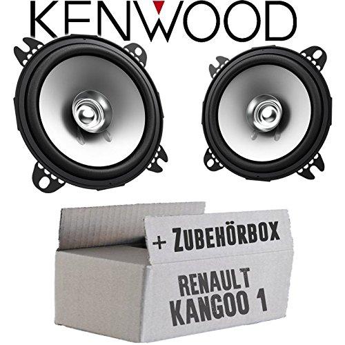Renault Kangoo 1 Front Heck - Lautsprecher Boxen Kenwood KFC-S1056-10cm Koax Auto Einbauzubehö r - Einbauset JUST SOUND best choice for caraudio ReKa1_KFC-S1056