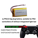 3.7v Lithium Ion Battery 2000mAh for PS4 Controller Battery Replacement, Sony Playstation 4, Dual Shock 4 Wireless Controller Battery Pack Replacement for CUH-ZCT1U -Series Models