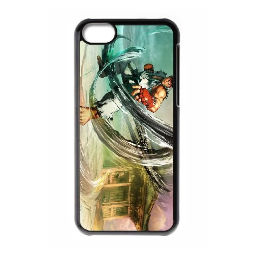 Street Fighter V 10 coque iPhone 5c cellulaire cas coque de téléphone cas téléphone cellulaire noir couvercle EEECBCAAN02739