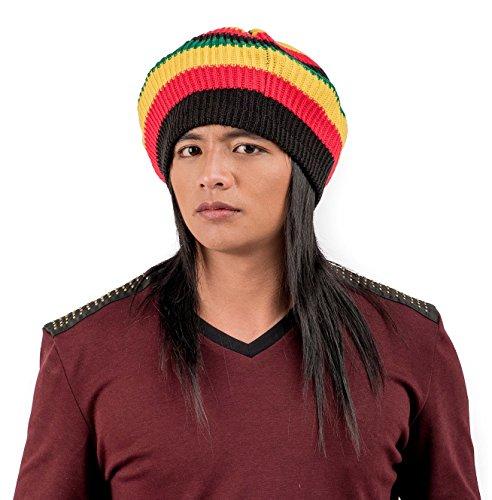 a49f7c88cc0 Igorbella Wide Seam Women Men s Knit Slouch Baggy Jamaican Rasta Hat Cap  Beanie Rastafarian Bob Marley Beret 2 Pieces - Buy Online in KSA.
