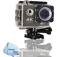 FrenzyDeals Black Ultra HD Wifi Waterproof Sports Camera + FrenzyDeals Microfiber Cloth