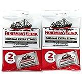 Fisherman's Friend Original Extra Strong Cough Suppressant Lozenges, 40-Count Bags (2 Sets)