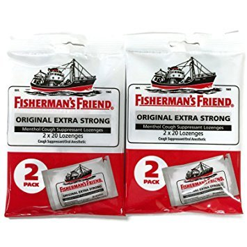 Fisherman's Friend Original Extra Strong Cough Suppressant Lozenges, 40-Count Bags (4 sets)