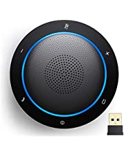 Kaysuda Bluetooth Conference Speakerphone Wireless Microphone and Speaker for Mobile Phone and Computer, USB Office Speakerphone for Teams, Zoom