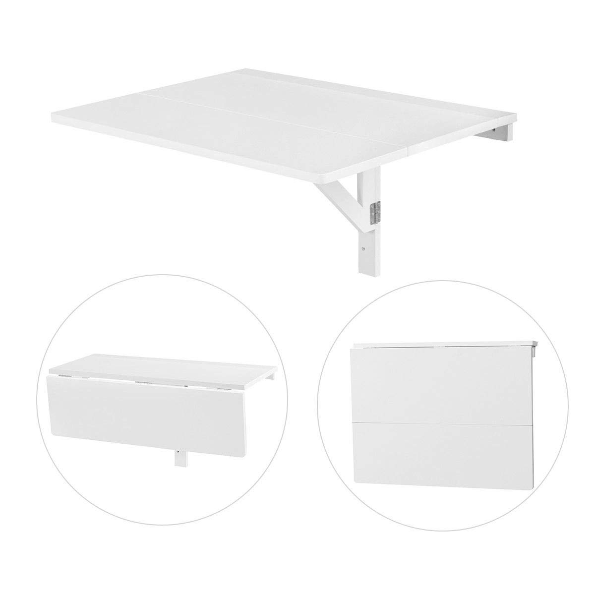 Wall-Mounted Drop-Leaf Table Folding Kitchen Dining Table Desk Simple and Folding by USA_BEST_SELLER