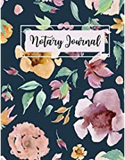 Notary Journal: A Notary Records Log Book For Public Notaries