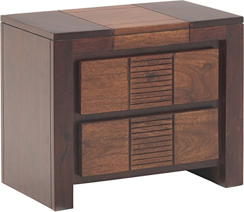 Rajasthan Crafts Nairobi Solid Wood Bed Side Cabinet (Honey Finish, Brown)
