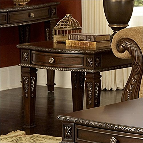 Homelegance Palace Old World Europe Design End Table with Dr
