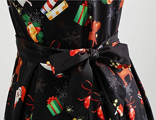Pizzo Elegante Stampato Vintage Nero kword line Donna Abiti Mini Vestito Elegante Abito A Lunga Natale Vestiti Donne Partito Decorazioni Manica Yn5qwHRX