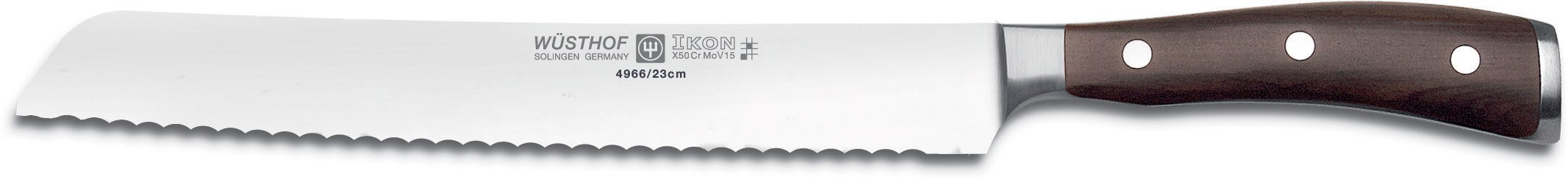 "Wusthof Ikon 9"" Serrated Bread Knife 4966/23"
