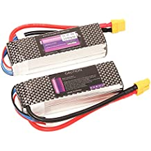 LiPo RC Battery 2200mAh 2 PACK 35C 3S 11.1V with XT60 Plug for Boat Airplane UAV Drone FPV Racing (35C-3S-2200mAh)