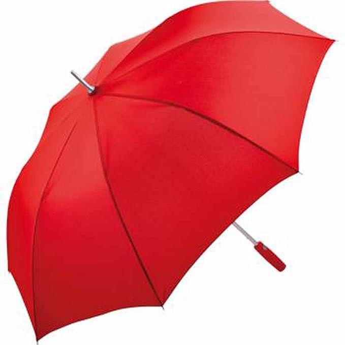 Fare – Paraguas Golf 130 cm – mate aluminio – 7580 rojo talla única