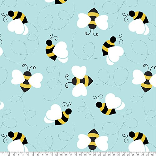 Bees Buzz Fleece Fabric by The - Baby Fleece Patterns
