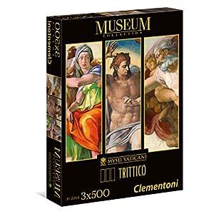 Clementoni Sistine Chapel Puzzle Trittico 3 X 500 Pezzi 39801