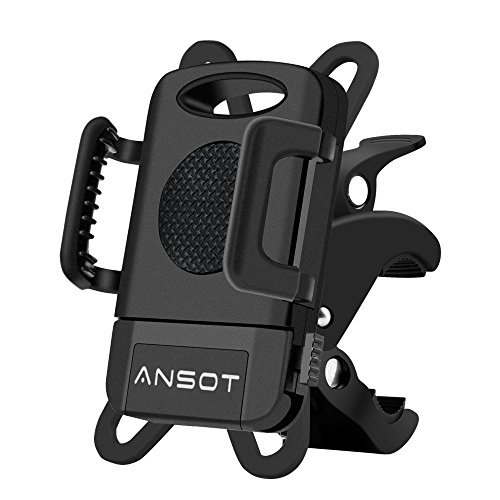 Ansot Bike Phone Mount Bicycle Phone Holder Universal Cell Phone Bicycle Handlebar & Motorbike Holder Cradle with 360 Degree Rotate for 3.5 '' to 7 '' Smartphone, 7' Motor