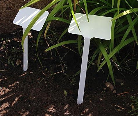 Yuzet - Etiquetas para plantas (25 unidades, letrero inclinado ...
