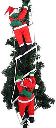 Fictory Adorno de Papá Noel - Decoración de Adorno Colgante de Interior/Exterior de árbol de Navidad de Juguete de Papá Noel: Amazon.es: Hogar
