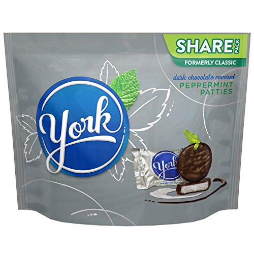 (Kisses YORK Dark Chocolate Candy Peppermint Patties, Miniatures, 10.1 oz Bag)