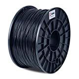 BuMat ABS Filament 1.75mm 1kg 2.2-Pound Printing Material Supply Spool for 3D Printer, Black