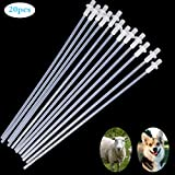 Together-life 20Pcs 10'' Disposable Artificial Insemination Rods Tube for Dog Goat Sheep Breed Rod Test Tube