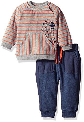 Price comparison product image Petit Lem Baby Boys' Striped Top and Pant Set,  Robot,  12 Months