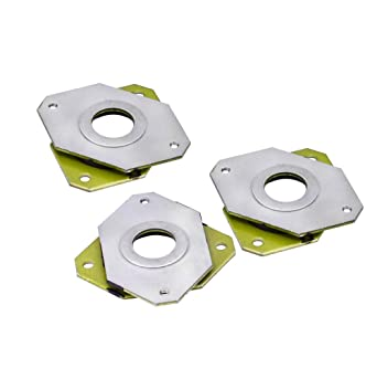 Zeelo - Juego de 3 amortiguadores de vibración de acero y goma + 6 ...