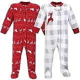 Hudson Baby Unisex Baby Fleece Sleep and Play, Santas Sleigh, 6-9 Months