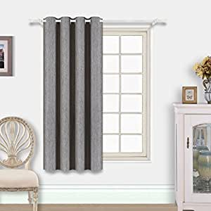 Best dreamcity single panel linen look blackout curtain drapes for living room w52 - Amazon curtains living room ...
