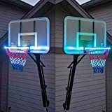 Heyean Light Up Action Basketball Net, LED Basketball Hoop Lights, Glow in The Dark Rim Lights Full Size, Super Bright to Play Longer Outdoors, Ideal for Kids, Adults, Parties and Training