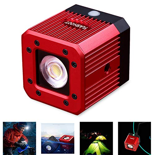 Dazzne 8W 200LUX/1M Waterproof Aluminum Alloy Mini Pocket Cube LED Video Light Strobe Function with 1/4