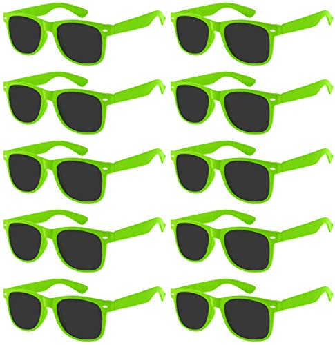 OWL Kids POLARIZED Sunglasses - Party Favors - 10 Pack(Green Frame/Smoke Lens)