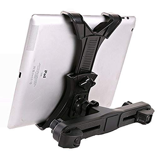 YYGIFT Tablet PC Mount Holder Universal Car Seat Backseat Headrest Support Holder with Extension 360 Degrees Rotation for 7-10.1 Inch Tablets iPad ()
