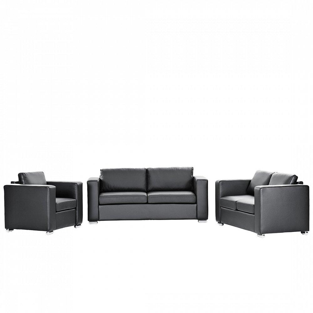 Sofa Couch Schwarz Ledersofa Ledercouch Helsinki Günstig