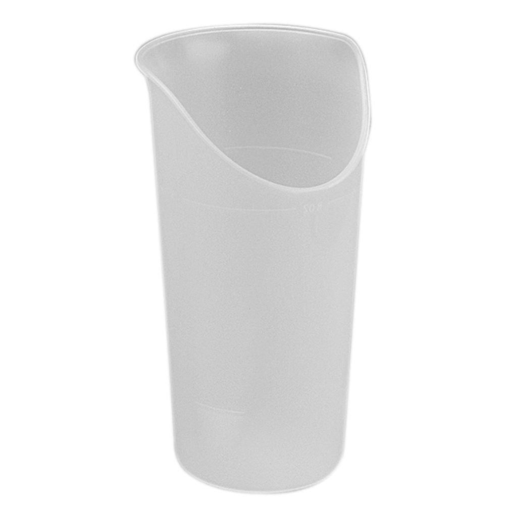 Maddak Ableware 8 Oz Translucent Polypropylene Nosey Cup - 3 1/8 Dia x 5 3/16 H