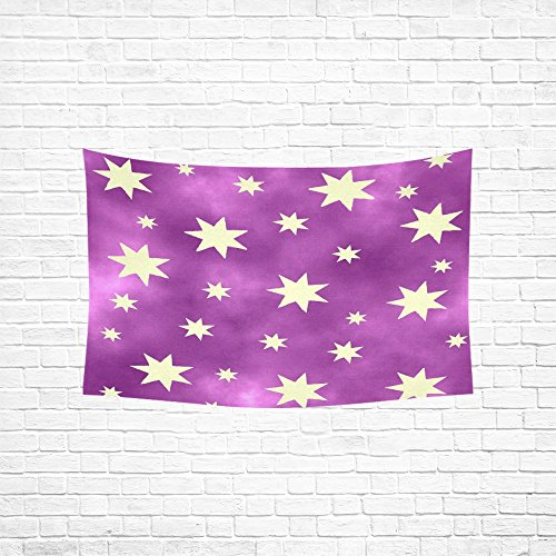 WUTMVING Tapestry Star Purple Light Violet Christmas Hippie Tapestries Wall Hanging Flower Tapestry Wall Hanging Dorm Decor For Living Room Bedroom 60 X 40 Inch