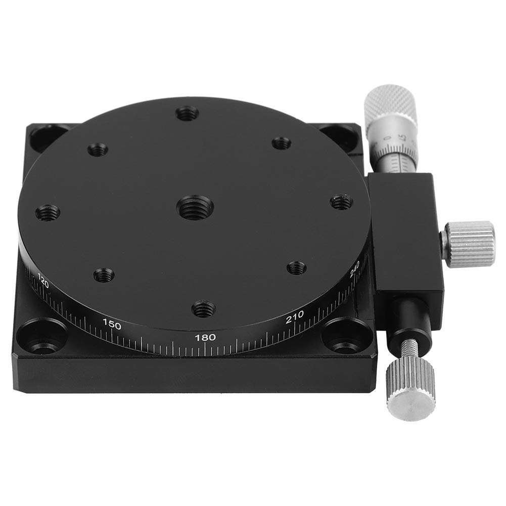 60x60mm Wear Resistance Fine-Tuning Sliding Table Manual R Axes Linear Stage for Lab with Load 29.4n 3kgf