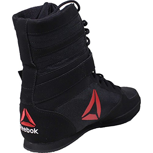Reebok Men's Boot Boxing Shoe, Buck-Delta-Black/Black/White, 9 M US