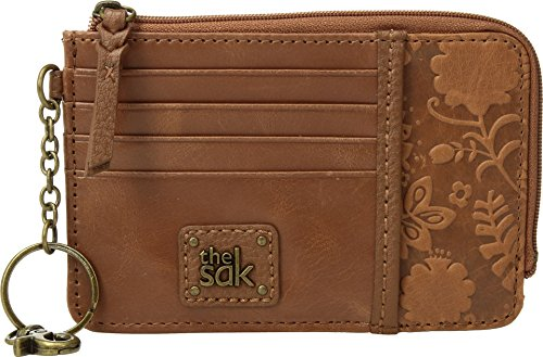 The Sak Womens Iris Card Wallet  Tobacco Floral Embossed  One Size