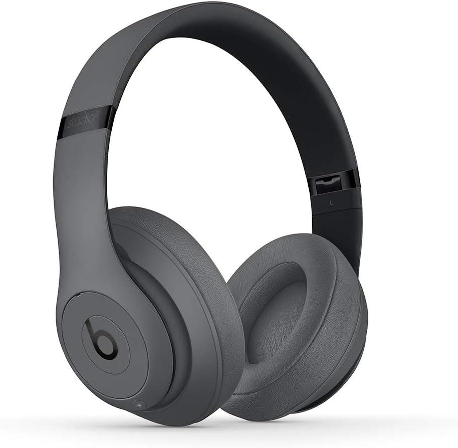 BeatsStudio3Wireless con cancelación de ruido - Auriculares supraaurales - Chip Apple W1, Bluetooth de Clase1, 22horas de sonido ininterrumpido - Gris