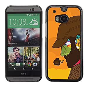 Impact Case Cover with Art Pattern Designs FOR HTC One M8 Doing Good Colorful Face Betty shop