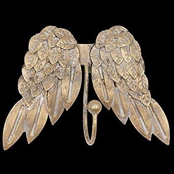 Distressed Gold Farbige Single Haken Engel Flügel Coat Handtuch