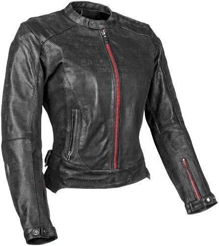 Speed and Strength Black Widow Women's Motorcycle Leather Jacket (Black, X-Large)