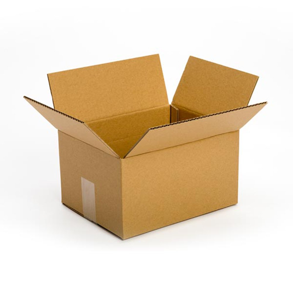 Pratt PRA0029 100% Recycled Corrugated Cardboard Box, 10'' Length x 8'' Width x 6'' Height (Pack of 25)