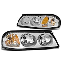 DNA Motoring HL-OH-CI00-CH-AM Headlight Assembly, Driver and Passenger Side