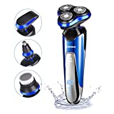 Electric Razor Shaver for Men 4D Floating Cutter Rechargeable 4...